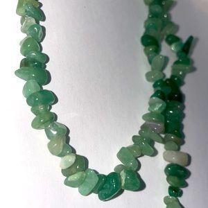 Green Aventurine Stone Chip Necklace